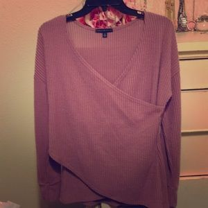 Long sleeved mauve top size medium.